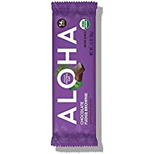 ALOHA Organic Plant Based Protein Bar, Chocolate Fudge Brownie, Vegan, 1.9 oz, 12 Bars