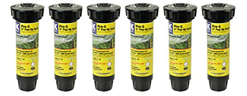 "K-Rain Pro-S 4"" Professional Pop-Up Sprays- 6Pack w. 15' Adjustable"