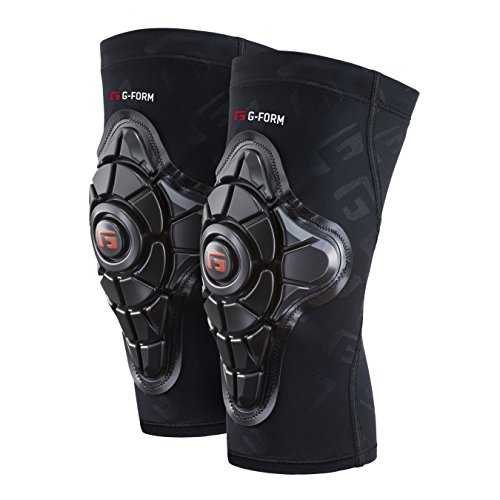 G-Form Pro-X Knee Pads(1 Pair), Black Logo, Adult Large