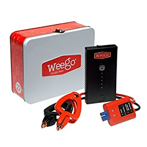 WEEGO 22s Jump Starter 1700 Peak 300 Cranking Amps Compact High Performance Lithium Ion USA Designed and Engineered