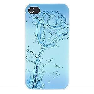 Conseguir Agua de Rosas Mate Patrón Diseñado estuche rígido de la PC para el iPhone 4/4S