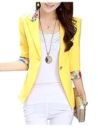 Jzoeoeu Women's Blazer Casual Long Sleeve Slim Office Suits Coats Overcoat