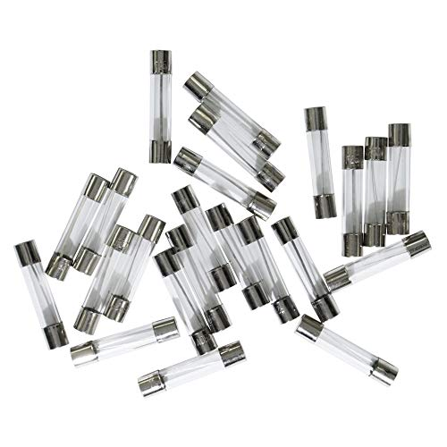 Z.Auto 25 Pcs Quick Fast Blow 250V 0.5A 6x30mm Glass Fuses with fuse puller
