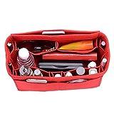 Felt Purse Organizer, Multi Pocket Bag in Bag Organizer For Tote & Handbag Shaper, Speedy 30, Speedy 35 and Speedy 40, Large, Red