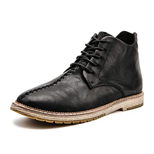 Mens Martin Boots Pointed-Toe Lace Up Casual Fashion Oxford Shoes