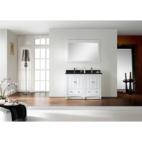 """Jade Bath JB-17776 47.5"""" W x 18"""" D Plywood-Veneer Vanity Set, White delicate"""