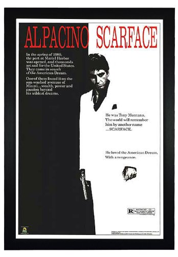 Scarface Framed Poster (Scarface, Al pacino 24