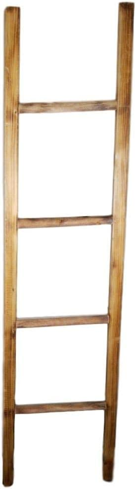 Nest Blanket Ladder Shelf Rustic Farmhouse Home Decor Wooden 5 Foot to Display Blankets Quilts Fifth Towels and Linens