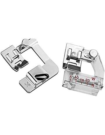 Babylock,Janome New Home Brother YRDQNCraft Pack of Rolled Hem Pressure Foot Sewing Machine Presser Foot Hemmer Foot and Tape Binding Sewing Machine Presser Foot Fits All Low Shank Snap-On Singer Kenmore