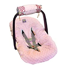 Itzy Ritzy TTM8067 Wrap and Roll Infant Carrier Arm Pad and Tummy Time Mat (Fresh Bloom)