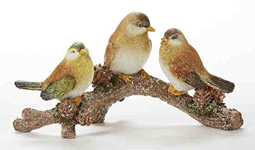 Delton Products 10 Inches x 5.1 Inches Resin 3 Birds on Branch Collectible Figurine, Multicolor,  (Bird Collectibles)
