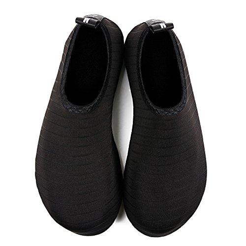 Men Socks Dry UK2 3 Quick Women Water 5 Black for Shoes Yoga 5 Surf On 35 Stripe Slip EU34 Beach Swim Barefoot Aqua qtTOHTP