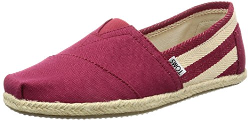 -  TOMS Men's Classic Canvas Slip-On, Red Stripe University - 11.5 D(M) US