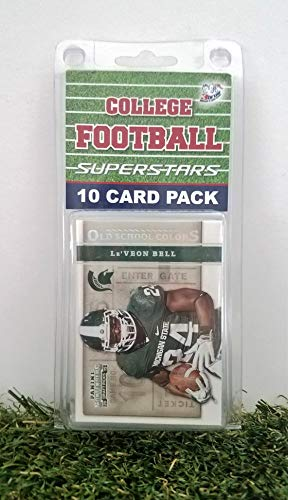Michigan State Spartans- (10) Card Pack College Football Different Spartan Superstars Starter Kit! Comes in Souvenir Case! Great Mix of Modern & Vintage Players for the Super Spartan Fan! By 3bros