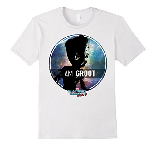 Men's Marvel Groot Guardians of Galaxy 2 Starry Graphic T-Shirt Large White