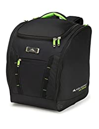 High Sierra Pro Series 2-Deluxe Trapezoid Boot Bag, Black/Zest, International Carry-On