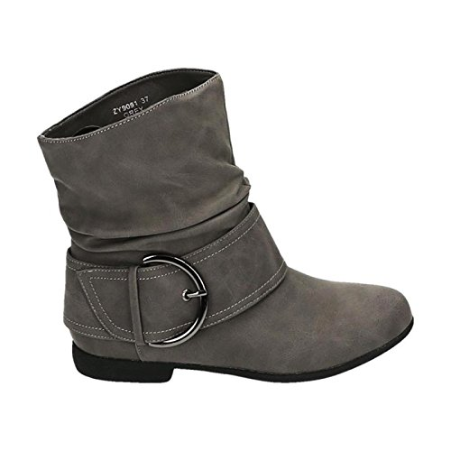 Shoes Grigio Stivaletti Donna King Of AqYYO
