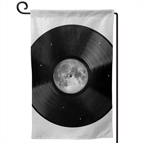 Hucuery Seasonal Garden Flag, Moon Song Vertical Double-Sided 12.5 X 18 in Courtyard Decoration Durable, Lovely -