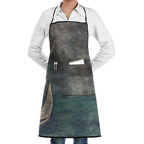 LCZ Stormy Waters Ship Alone Fashion Waterproof Durable Apron With Pockets For Women Men Chef -