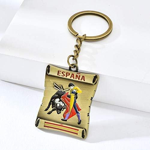 España Bullfighting Patrón Llavero Plating Oro España Estilo ...
