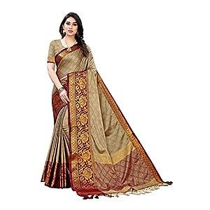 Designer New Cotton Silk Saree with Blouse Piece