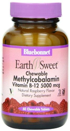 Bluebonnet Methylcobalamin vitamine B-12 5000 mcg par - 60 comprimés à croquer