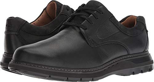 CLARKS New Men's Un Ramble Lo Oxford Black Tumbled Leather 11 - Collection Leather Mulberry