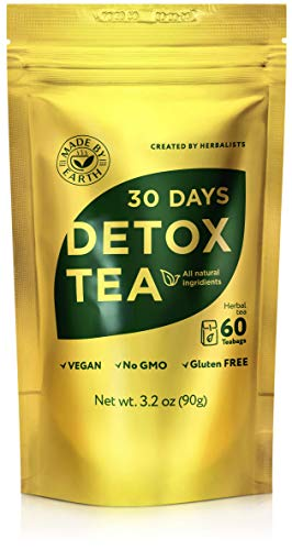 Made by Earth - 30 Day Detox Tea with Detox Guide: 100% Natural Herbal Teatox - Speeds Metabolism for Easy Weight Loss