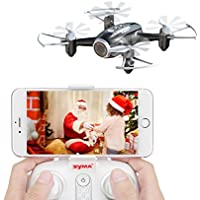 Syma X22W RC Drone Camera Nano Quad Copter WiFi FPV Pocket Drone RTF Mode 4 Channel Headless Mode