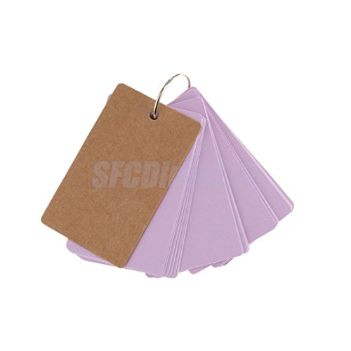 50 Kraft Paper Blank Memo Pads Portable Notepads Word Cards Kids School Supply Purple by sfcdirect
