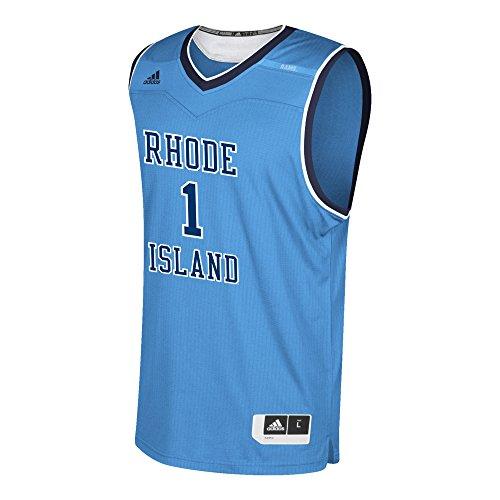- adidas NCAA Rhode Island Rams Mens Replica Basketball Jerseyreplica Basketball Jersey, Light Blue, X-Large