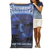 RobertJ.Rivera Unisex Woman Mens Metallica Ride The Lightning Polyester Import Hotel Towel