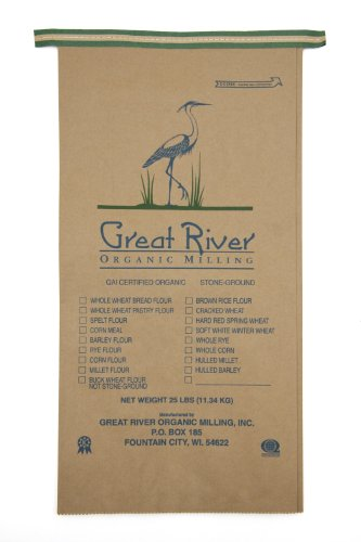Great River Organic Milling Organic Whole Grains Hard Red Spring Wheat, 25-pounds (Pack of1)