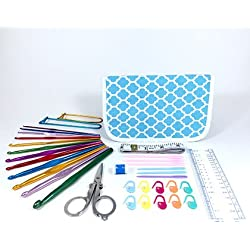 TenderHeart Shop Ultimate Crochet Kit, Blue