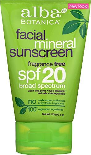 (Alba Botanica (NOT A CASE) Very Emollient Sunscreen Facial Mineral Proteion SPF 20)