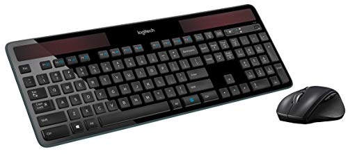 Logitech MK750 Wireless Solar Keyboard and Wireless Marathon Mouse Combo for PC