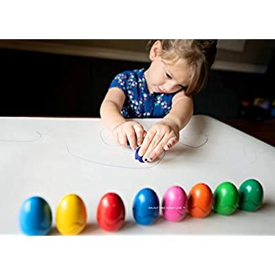 Jumbo Crayons [Montessori] for Toddlers ages 4-8 | Child Development Art & Activity Set | Easter Egg Crayons | Non Toxic 9 Colors & Pcs |Palm Grip for Toddlers/Children, Washable, Non Toxic: Office Products