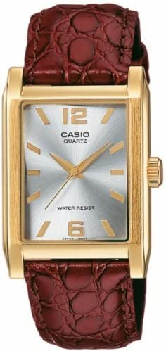 [Sponsored] Casio Men's MTP1235GL-7A Brown Leather Quartz Watch with Silver Dial