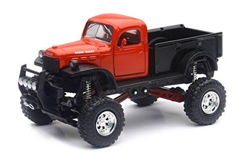 1946 Dodge Power Wagon 4x4 Pickup Truck Raised w/ Working Suspension 1:32 - Pickup Replica Truck