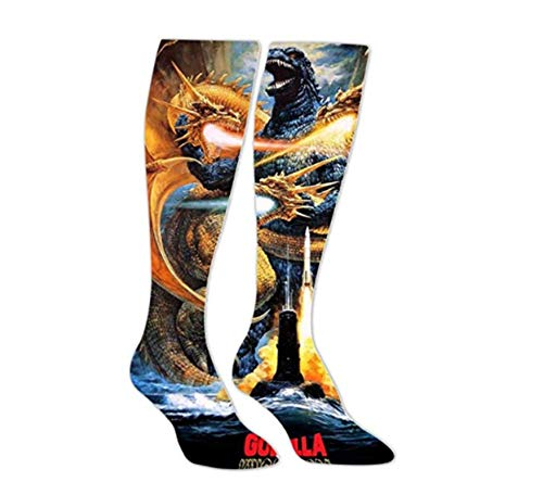 Cool Dragon_Godzilla Long Socks Sport Socks Knee High Thigh Stockings -