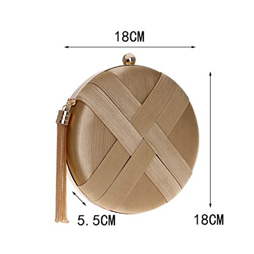 Phone Bag Key Women Pocket Bags Handbags Chain Purse Tassel Ym1215gold Lady Bags Small Clutch Shoulder Evening Day UOOxH7