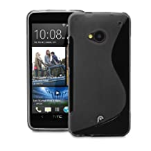Fosmon DURA S Series (TPU) Skin Case Cover for HTC One (2013) / HTC M7 (Black)