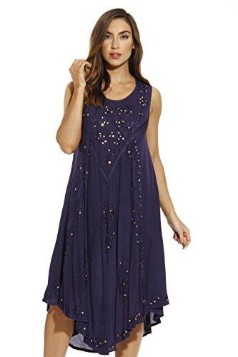 Riviera Sun 21660-NVY-3X Dress/Dresses for Women Navy