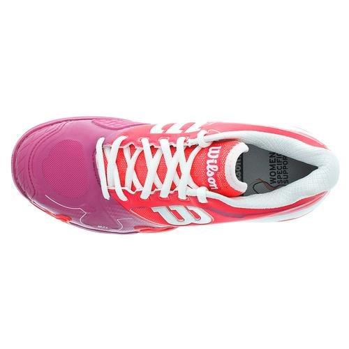 Wilson Womens Rush Pro 2.0 Tennisschoenen Neon Rood / Roze