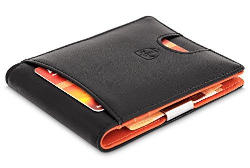 TRAVANDO Slim Wallet with Money Clip   RFID Credit Card Holder, Thin Bifold Men
