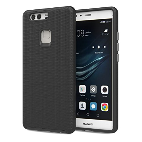 Huawei P9 Plus Case - MoKo Advanced [Anti-Slip] [Scratch-resistant] Armor Series TPU Bumper & Hard PC Back Shock Absorbing Protective Cover for Huawei P9 Plus 5.5
