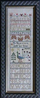 Peacock Band Sampler Cross Stitch Chart