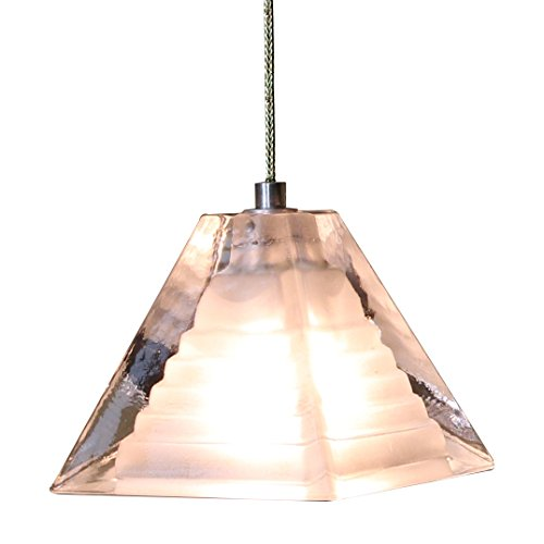 Direct-Lighting Pyramid Shaped Mini Pendant Light, Clear Glass, Ready To Install, DPNL-36-6-CLEAR
