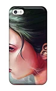 Iphone Cover Case - Amazing Girl Painting Protective Case Compatibel With Iphone 5/5s