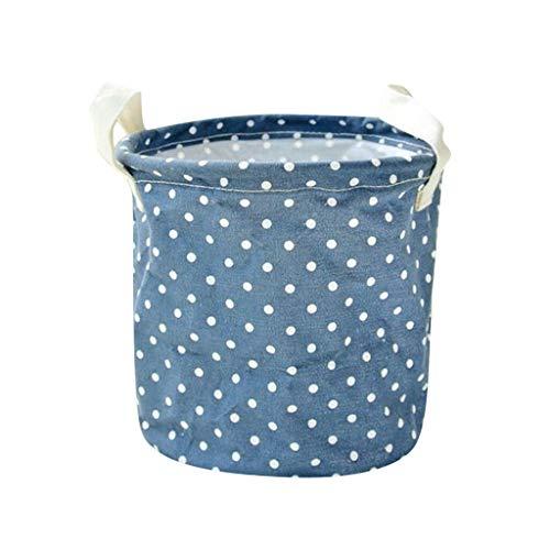 MOPOLIS Clothing Storage Bucket Laundry Basket Holder Bag Household Toy Organizer (Color - Blue)